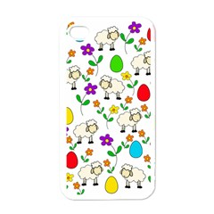 Easter Lamb Apple Iphone 4 Case (white) by Valentinaart