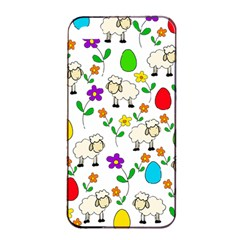 Easter Lamb Apple Iphone 4/4s Seamless Case (black) by Valentinaart