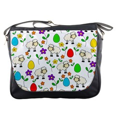 Easter Lamb Messenger Bags by Valentinaart