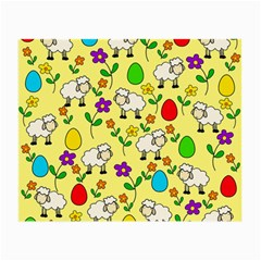 Easter Lamb Small Glasses Cloth by Valentinaart
