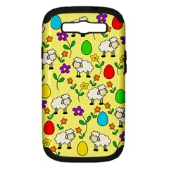 Easter Lamb Samsung Galaxy S Iii Hardshell Case (pc+silicone) by Valentinaart