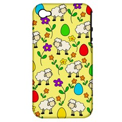 Easter Lamb Apple Iphone 4/4s Hardshell Case (pc+silicone) by Valentinaart