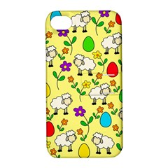 Easter Lamb Apple Iphone 4/4s Hardshell Case With Stand by Valentinaart