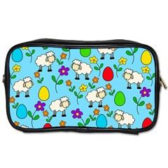 Easter Lamb Toiletries Bags 2 Side by Valentinaart
