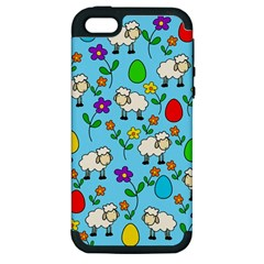Easter Lamb Apple Iphone 5 Hardshell Case (pc+silicone) by Valentinaart