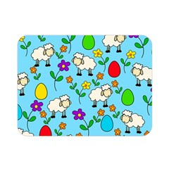 Easter Lamb Double Sided Flano Blanket (mini)  by Valentinaart