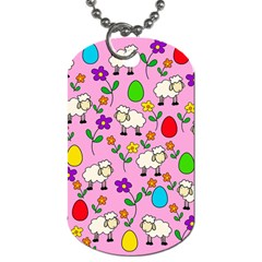 Easter Lamb Dog Tag (two Sides) by Valentinaart
