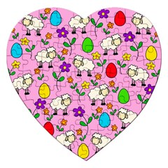 Easter Lamb Jigsaw Puzzle (heart) by Valentinaart