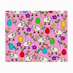 Easter Lamb Small Glasses Cloth (2 Side) by Valentinaart