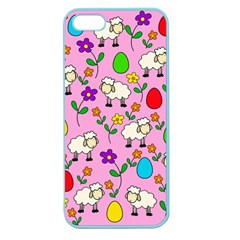 Easter Lamb Apple Seamless Iphone 5 Case (color) by Valentinaart