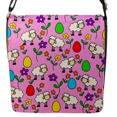 Easter Lamb Flap Messenger Bag (s) by Valentinaart
