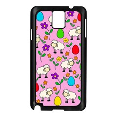 Easter Lamb Samsung Galaxy Note 3 N9005 Case (black) by Valentinaart