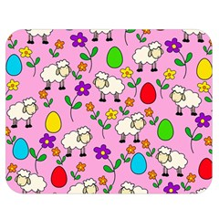 Easter Lamb Double Sided Flano Blanket (medium)  by Valentinaart