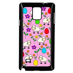 Easter Lamb Samsung Galaxy Note 4 Case (black) by Valentinaart