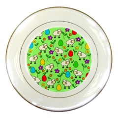 Easter Lamb Porcelain Plates by Valentinaart