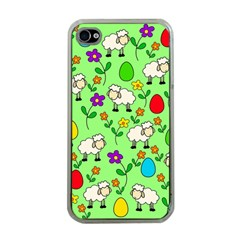Easter Lamb Apple Iphone 4 Case (clear) by Valentinaart