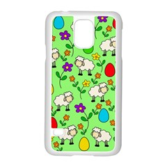 Easter Lamb Samsung Galaxy S5 Case (white) by Valentinaart