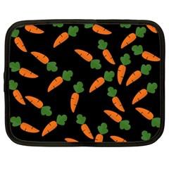 Carrot Pattern Netbook Case (xl)  by Valentinaart