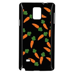 Carrot Pattern Samsung Galaxy Note 4 Case (black) by Valentinaart