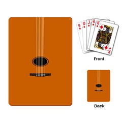 Minimalism Art Simple Guitar Playing Card by Mariart