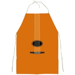 Minimalism Art Simple Guitar Full Print Aprons by Mariart