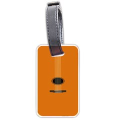 Minimalism Art Simple Guitar Luggage Tags (one Side)  by Mariart