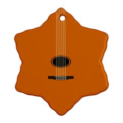Minimalism Art Simple Guitar Snowflake Ornament (two Sides) by Mariart