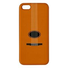Minimalism Art Simple Guitar Iphone 5s/ Se Premium Hardshell Case by Mariart