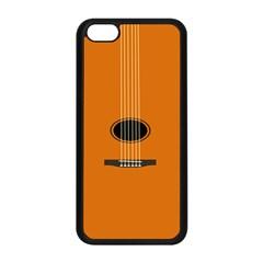 Minimalism Art Simple Guitar Apple Iphone 5c Seamless Case (black) by Mariart