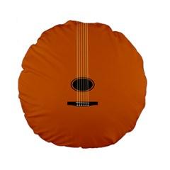 Minimalism Art Simple Guitar Standard 15  Premium Flano Round Cushions by Mariart