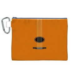 Minimalism Art Simple Guitar Canvas Cosmetic Bag (xl) by Mariart