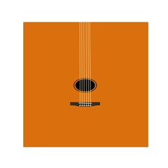Minimalism Art Simple Guitar Small Satin Scarf (square) by Mariart