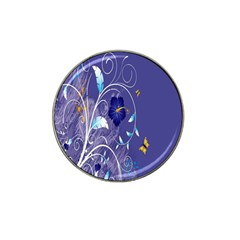 Flowers Butterflies Patterns Lines Purple Hat Clip Ball Marker (10 Pack) by Mariart