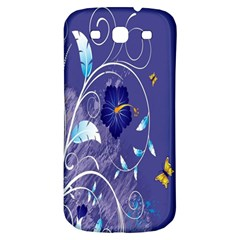 Flowers Butterflies Patterns Lines Purple Samsung Galaxy S3 S Iii Classic Hardshell Back Case by Mariart