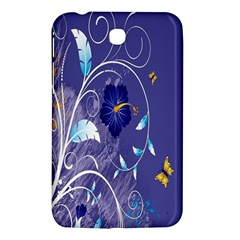 Flowers Butterflies Patterns Lines Purple Samsung Galaxy Tab 3 (7 ) P3200 Hardshell Case  by Mariart