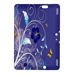 Flowers Butterflies Patterns Lines Purple Kindle Fire Hdx 8 9  Hardshell Case by Mariart