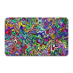 Colorful Abstract Paint Rainbow Magnet (rectangular) by Mariart