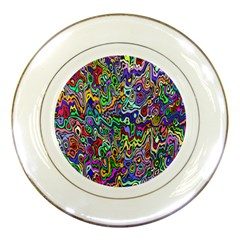 Colorful Abstract Paint Rainbow Porcelain Plates by Mariart