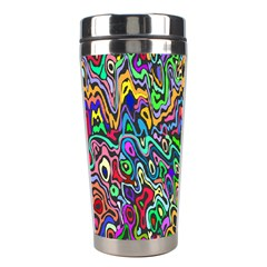 Colorful Abstract Paint Rainbow Stainless Steel Travel Tumblers by Mariart