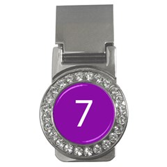 Number 7 Purple Money Clips (cz)  by Mariart