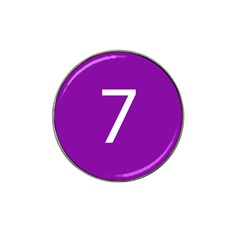 Number 7 Purple Hat Clip Ball Marker