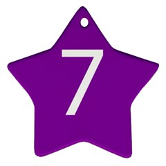 Number 7 Purple Star Ornament (two Sides) by Mariart