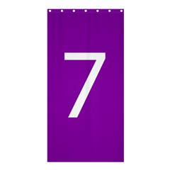 Number 7 Purple Shower Curtain 36  X 72  (stall)  by Mariart