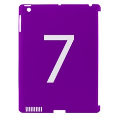 Number 7 Purple Apple Ipad 3/4 Hardshell Case (compatible With Smart Cover) by Mariart