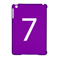 Number 7 Purple Apple Ipad Mini Hardshell Case (compatible With Smart Cover) by Mariart