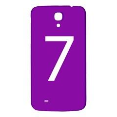 Number 7 Purple Samsung Galaxy Mega I9200 Hardshell Back Case by Mariart