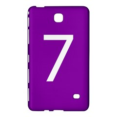 Number 7 Purple Samsung Galaxy Tab 4 (8 ) Hardshell Case  by Mariart