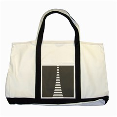 Minimalist Stairs White Grey Two Tone Tote Bag by Mariart