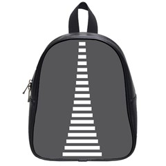 Minimalist Stairs White Grey School Bags (small)  by Mariart