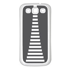 Minimalist Stairs White Grey Samsung Galaxy S3 Back Case (white) by Mariart